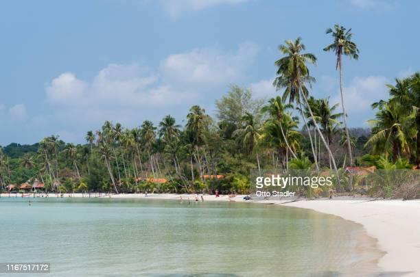 people on bang bao beach on ko kut island - golf von thailand stock-fotos und bilder