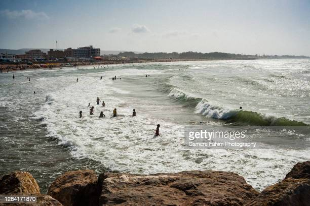 people on beach during the summer - 2007 stock pictures, royalty-free photos & images