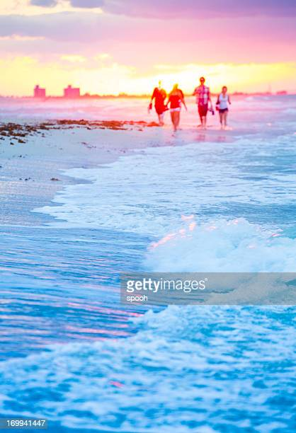 people on beach - varadero beach stock pictures, royalty-free photos & images