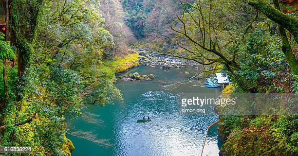 people on boating in Miyazaki Takachiho Gorge river