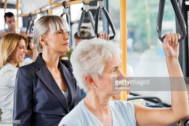 People on bus.