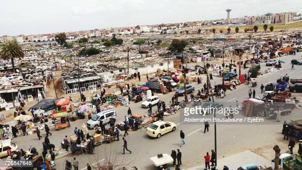 people on city street in morocco - rabat morocco stock pictures, royalty-free photos & images