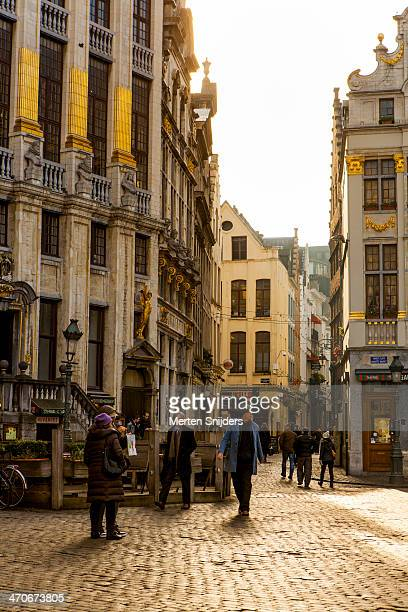 people on grand-place - merten snijders stock pictures, royalty-free photos & images