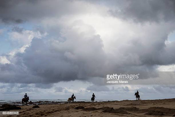 People on horseback, East London, Wild Coast, Eastern Cape Province, South Africa
