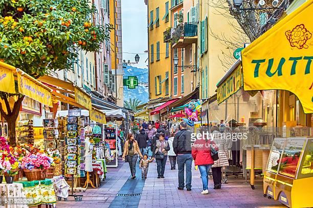 People on main street of Rue St-Michel