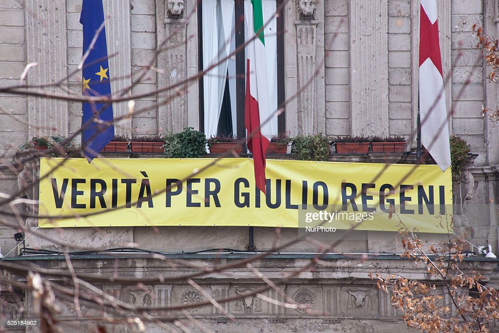 Truth for Giulio Regeni in Milan : News Photo