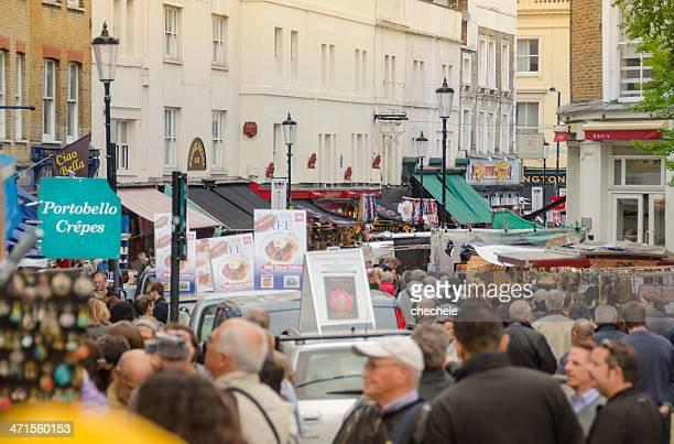 People on Portobello Road Notting Hill London