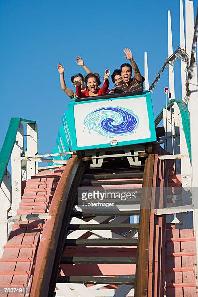 People on roller coaster, Mission Beach, San Diego