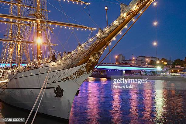 people on sailing ship - rouen stock pictures, royalty-free photos & images