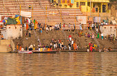 traditional hindu indian people pilgrims tourists