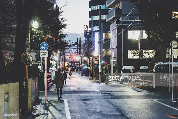 People On Street At Night