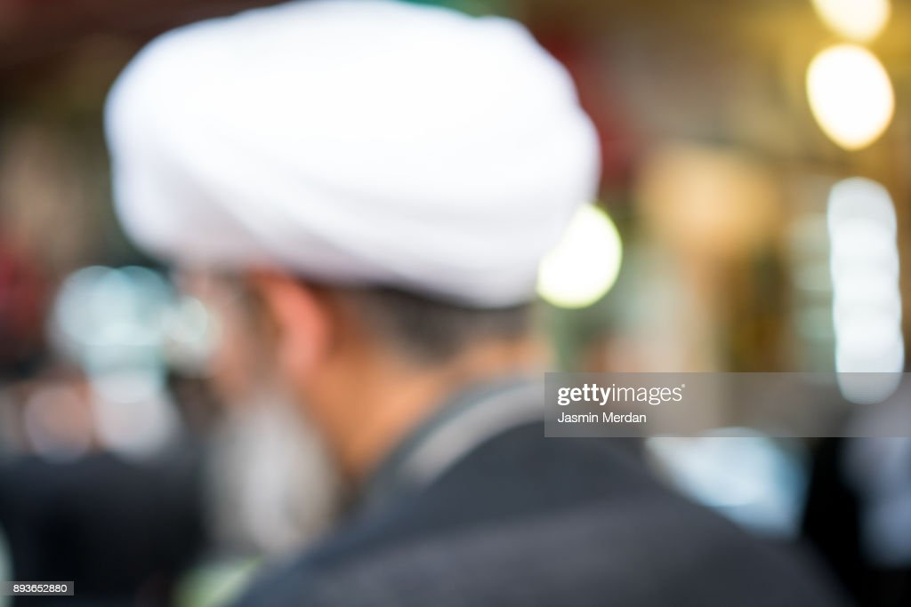 People on street, blurred man : Stock Photo