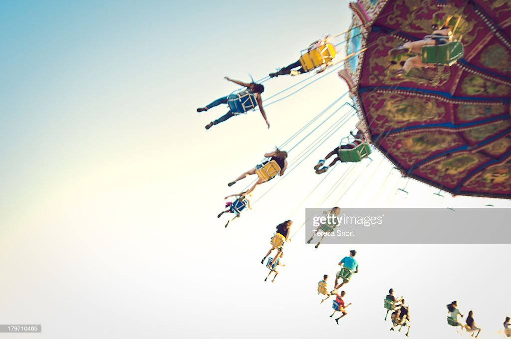 People on Swing Ride : Stock Photo