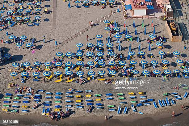 People On The Beach, Aerial View