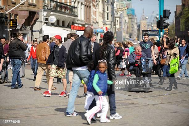 People on the Damrak, Amsterdam