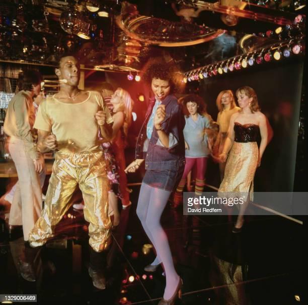 People on the dancefloor at a club, circa 1975.