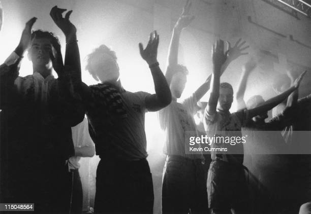People on the dancefloor at The Hacienda's night club in Manchester circa 1990
