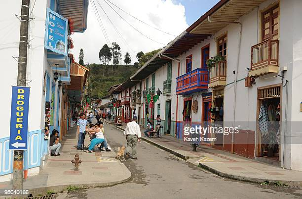 People on the main street Salento Salento is a small town in the hills near the city of Pereira It is known for its trout fishing which is served in...