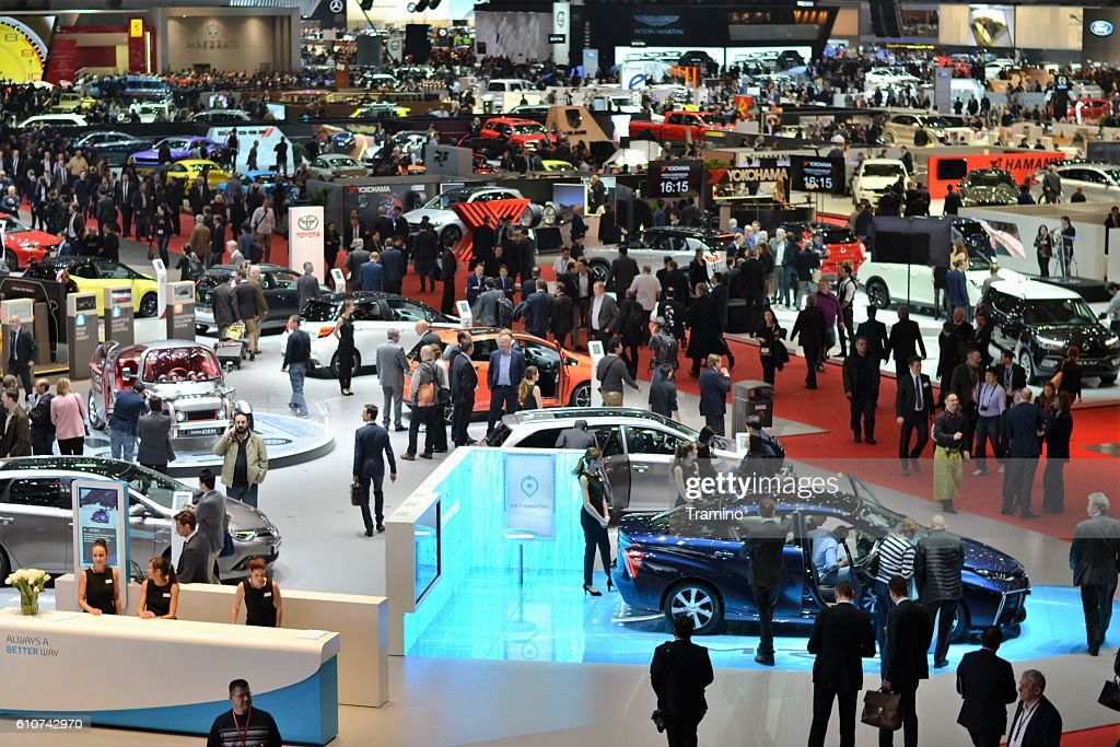 People on the motor show : Stock Photo