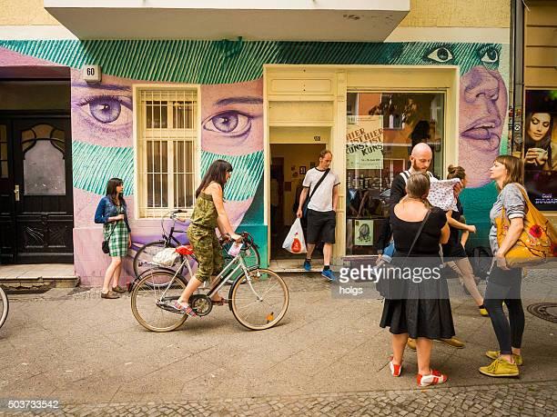 People on the streets of Neukoelln in Berlin, Germany