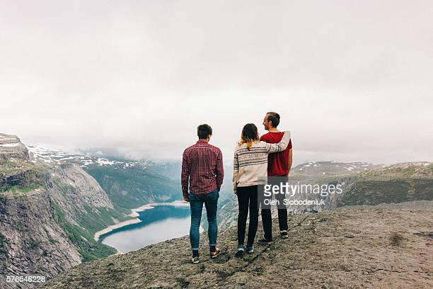 People on the Trolltunga