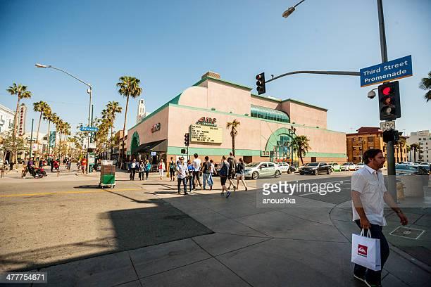 People on Third Street Promenade, Santa Monica, USA