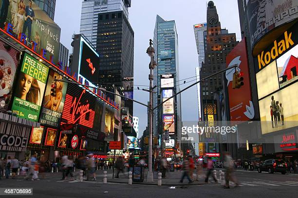 people on times square - marriott marquis new york stock photos and pictures