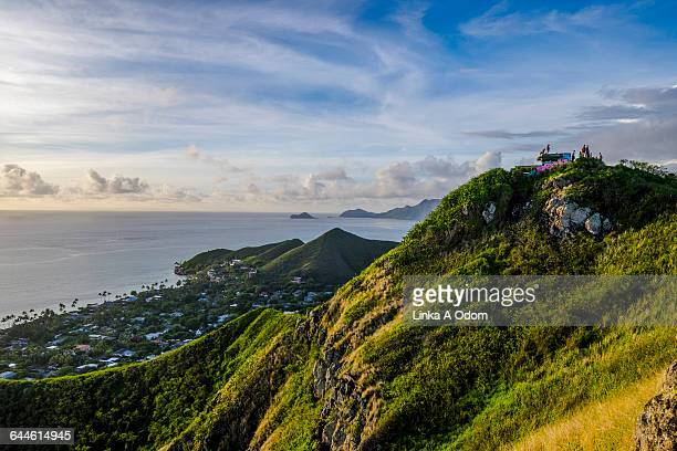 People on top of an Ocean Overlook