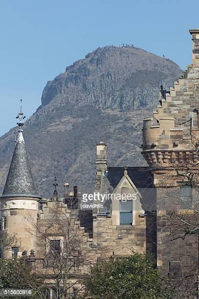 People on top pf Arthur's seat in Edinburgh's Holyrood PArk