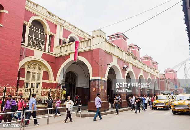 People outside Howrah Railway Station, Kolkata, India