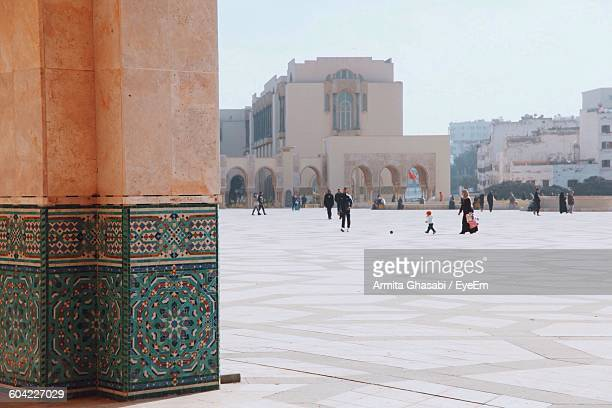 People Outside Mosque Hassan Ii