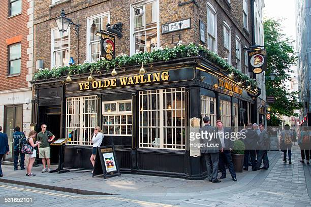 people outside pub - british culture stock pictures, royalty-free photos & images