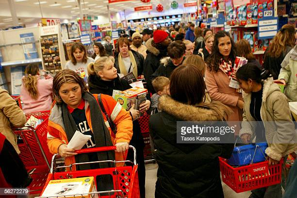 People pack the isles as they shop at a Target on November 25 2005 in Hobart Indiana The day after Thanksgiving known as Black Friday is...