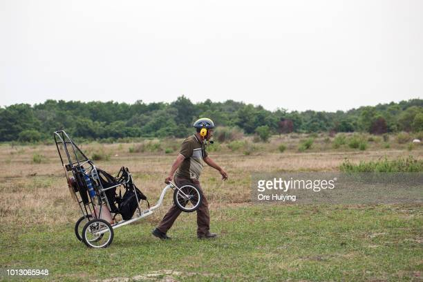 People paraglide at the 234 acre land acquired by 1MDB fund in Pulah Indah on July 29 2018 in Selangor Malaysia Malaysia's former prime minister...