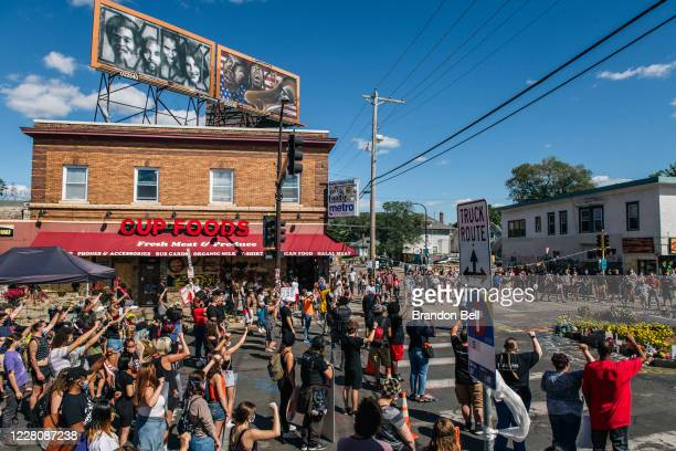 People participate in a demonstration on August 17, 2020 in Minneapolis, Minnesota. Community members came together for a rally to protest the city's...