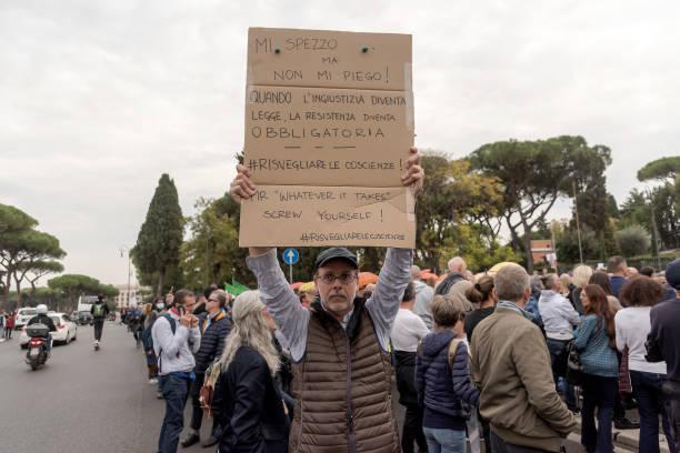 ITA: No Green Pass Demonstration In Rome