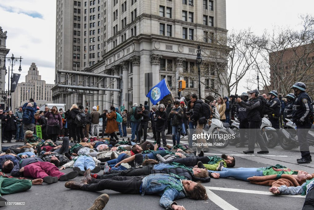 NY: Environmental Activists 'Extinction Rebellion' Hold Climate Change Protest In New York City