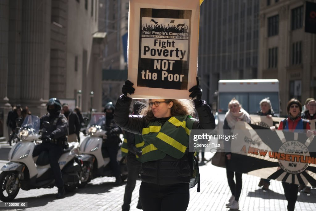 NY: Poor People's Campaign Holds Day Of Action Rally At Wall Street's Charging Bull