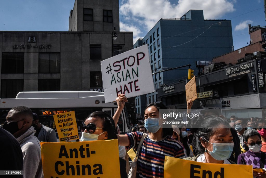 Across The U.S., Rallies Call For An End To Anti-Asian Violence : News Photo