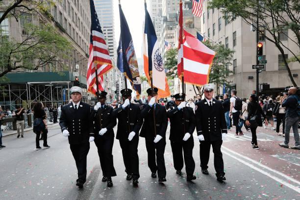 NY: Columbus Day Parade Returns To New York's Fifth Avenue