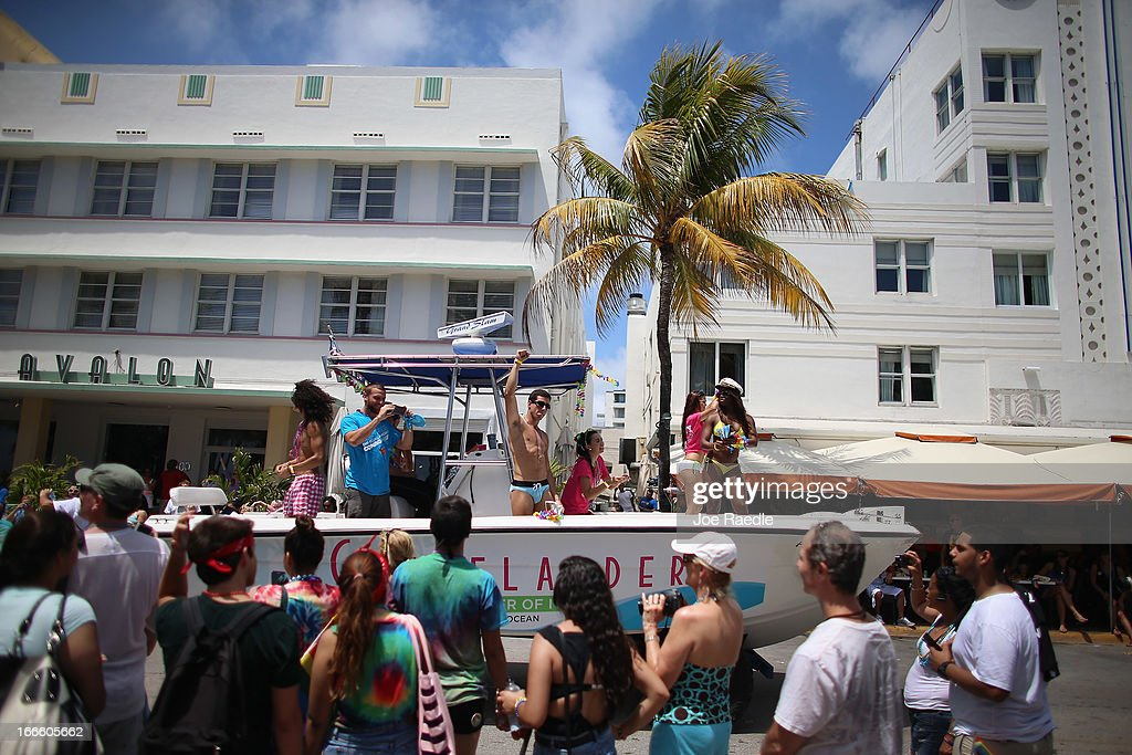 People Participate In The Fifth Annual Miami Beach Gay Pride Parade Along Ocean Drive On April