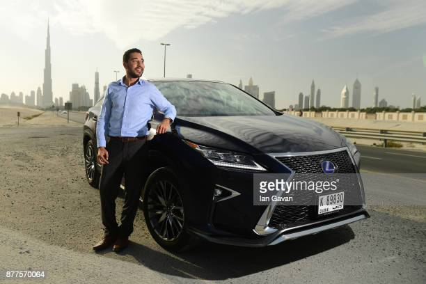 People participate in the Lexus Hybrid Test Drive at Dubai Design District on November 22 2017 in Dubai United Arab Emirates