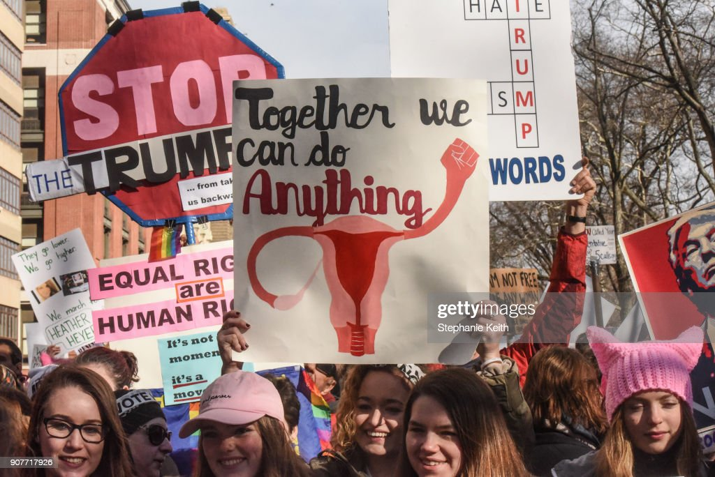 Huge Crowds Rally At Women's Marches Across The U.S. : News Photo