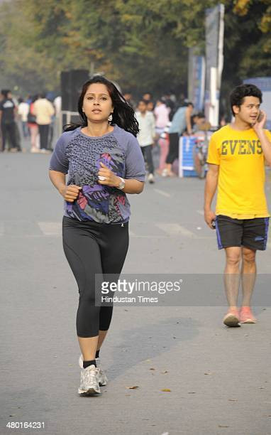 People participate on the Raahgiri Day organised by the Gurgaon administration along with support from EMBARQ India Pedal Yatris NMT group the...