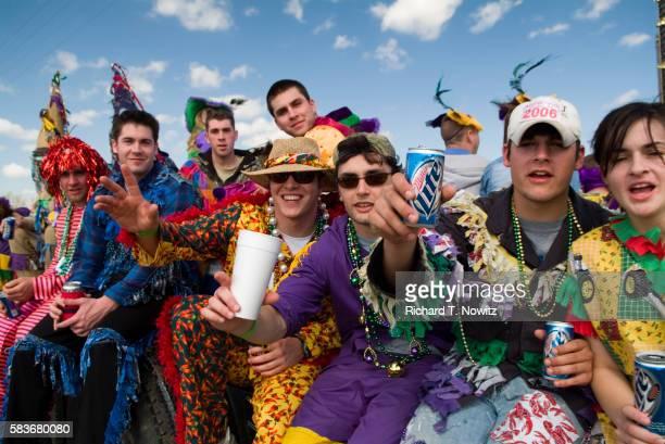 People Participating in Courir de Mardi Gras