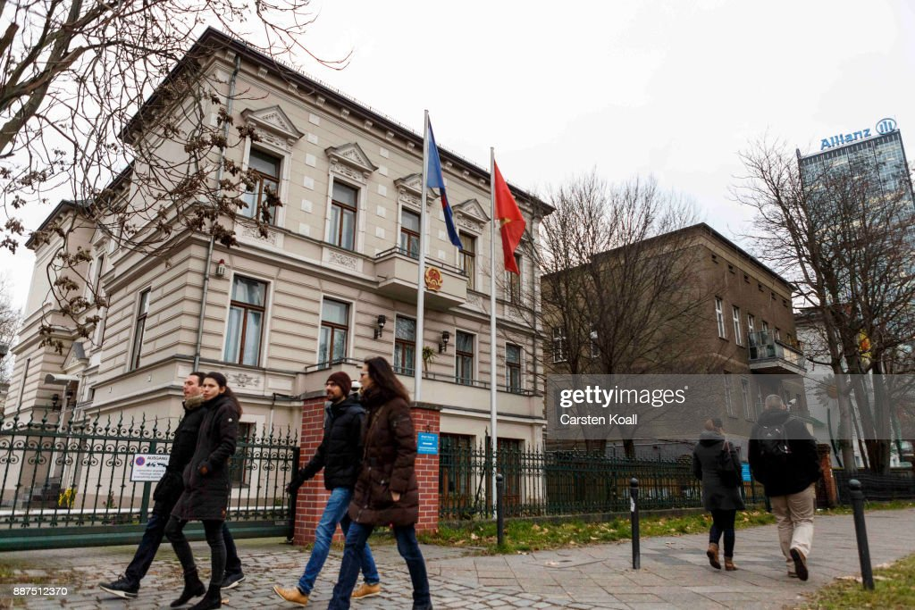 People pass by the Vietnamese Embassy on December 7, 2017 in Berlin, Germany. According to German newspaper Sueddeutsche Zeitung evidence suggests the Vietnamese Embassy had a direct role in the July 23 kidnapping of Vietnamese politician Trinh Xuan Thanh. Trinh, who had sought asylum Berlin after fleeing charges in Vietnam, was kidnapped in broad daylight on the street in Berlin. According to Sueddeutsche Zeitung the van used in the kidnapping drove directly to the Vietnamese Embassy and embassy employees took part in the getting him out of the country. Trinh appeared several days later in custody in Vietnam.