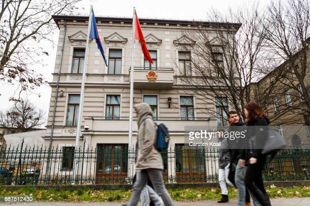 People pass by the Vietnamese Embassy on December 7 2017 in Berlin Germany According to German newspaper Sueddeutsche Zeitung evidence suggests the...