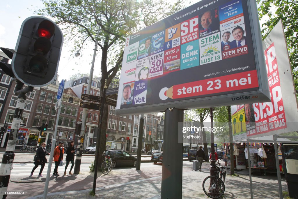 NLD: Election Campaign Posters Of European Parliament Elections