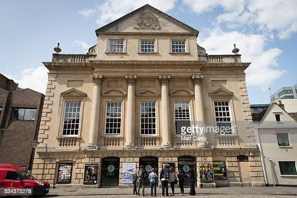 People pass the entrance of the Bristol Old Vic theatre, on May 24, 2016 in Bristol, England. The Bristol Old Vic, which is the oldest...