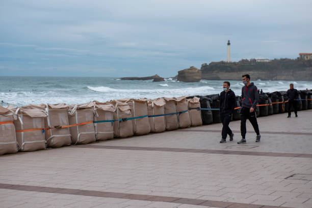 FRA: Wave Bumper Installation In Biarritz